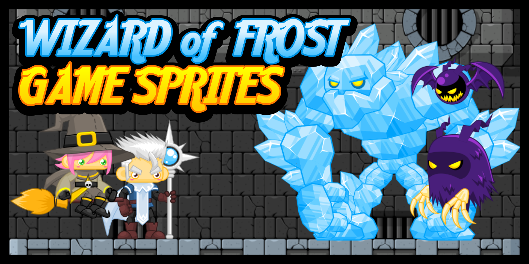 Wizard of Frost - Game Sprites