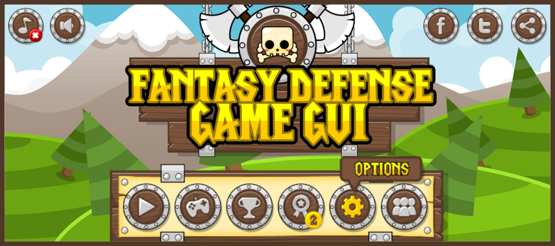 Fantasy Defense - Game GUI