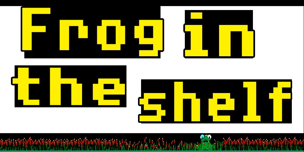 Frog in the shelf