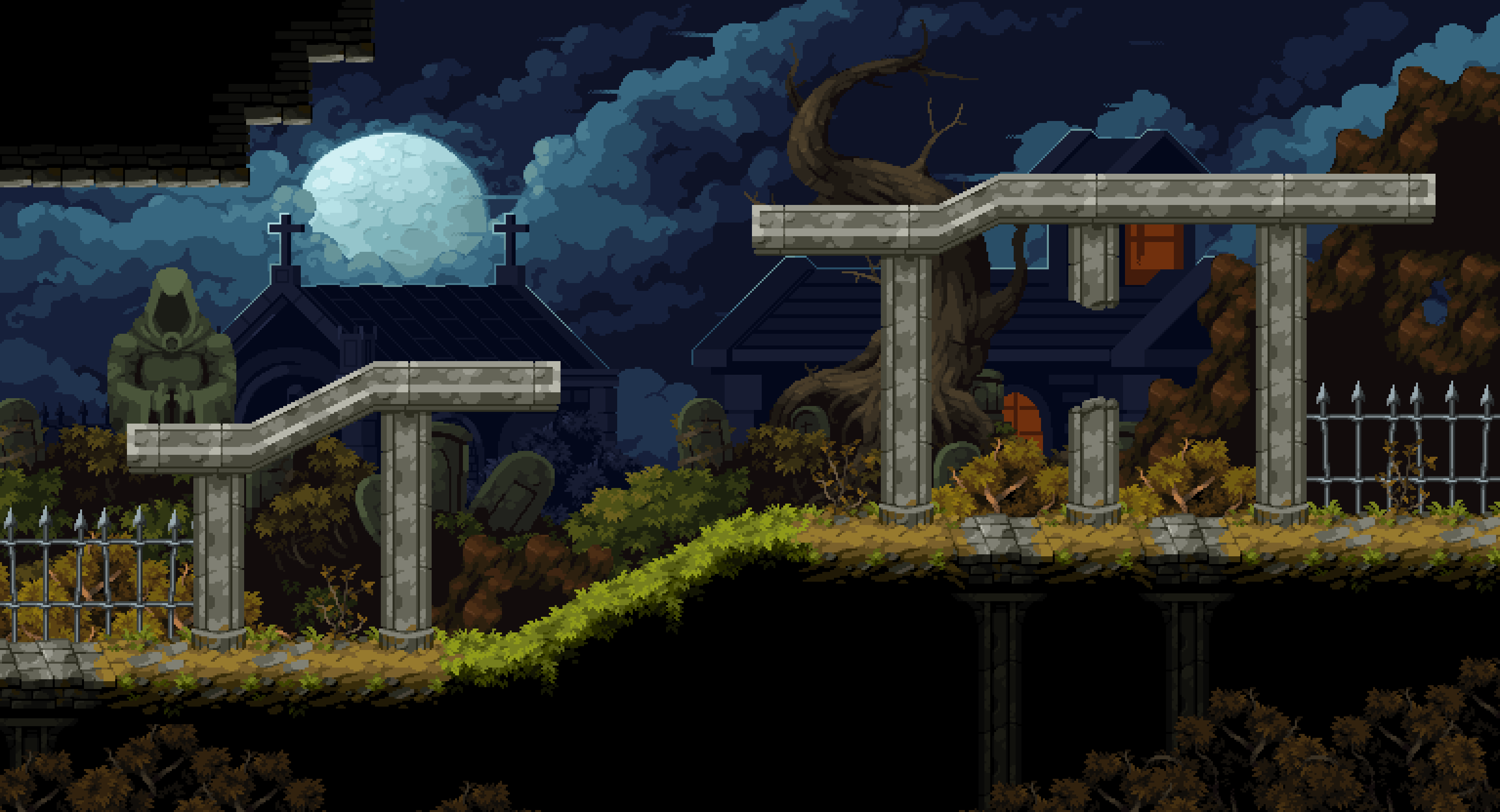 Moon Light Graveyard