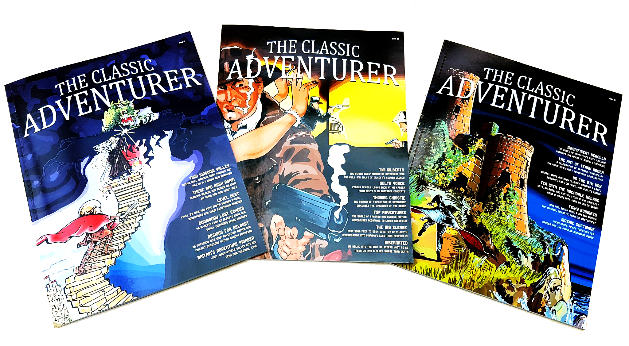 NOTE: The picture shows three issues of THE CLASSIC ADVENTURER, the prize is ONE issue only