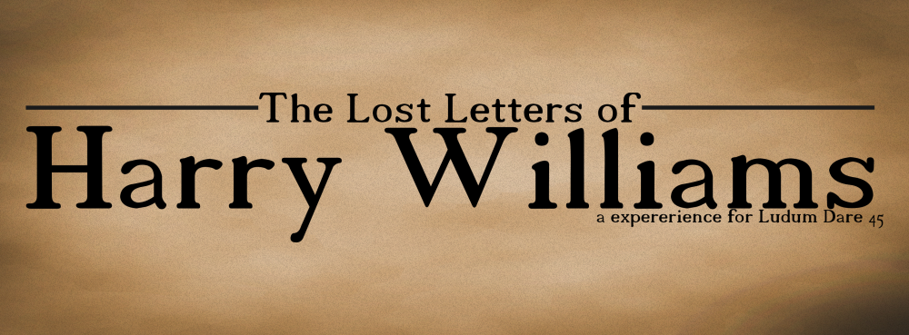 The Lost Letters of Harry Williams