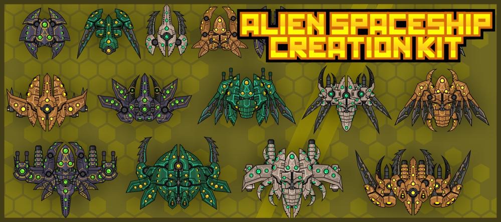 Top Down Alien Spaceship