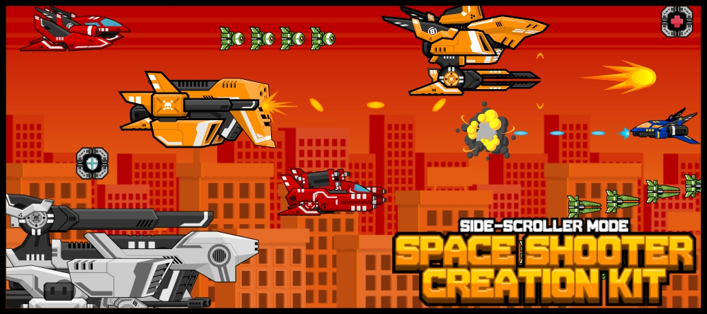 Side Scrolling Space Shooter 1