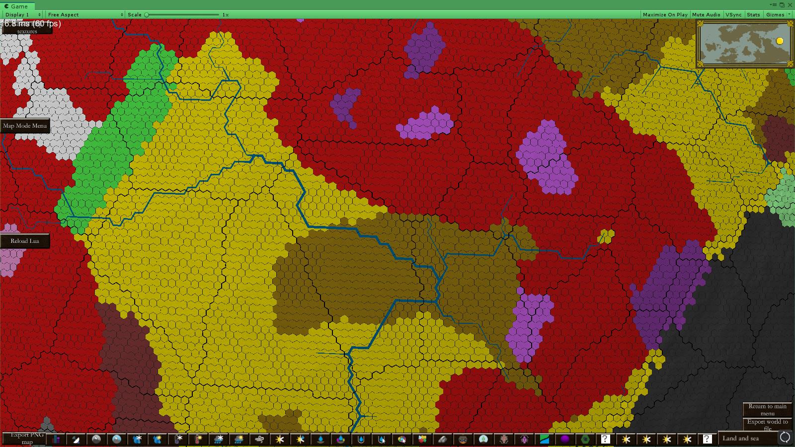 Bedrock Map mode