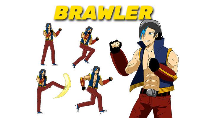 Brawler 2D Sprite