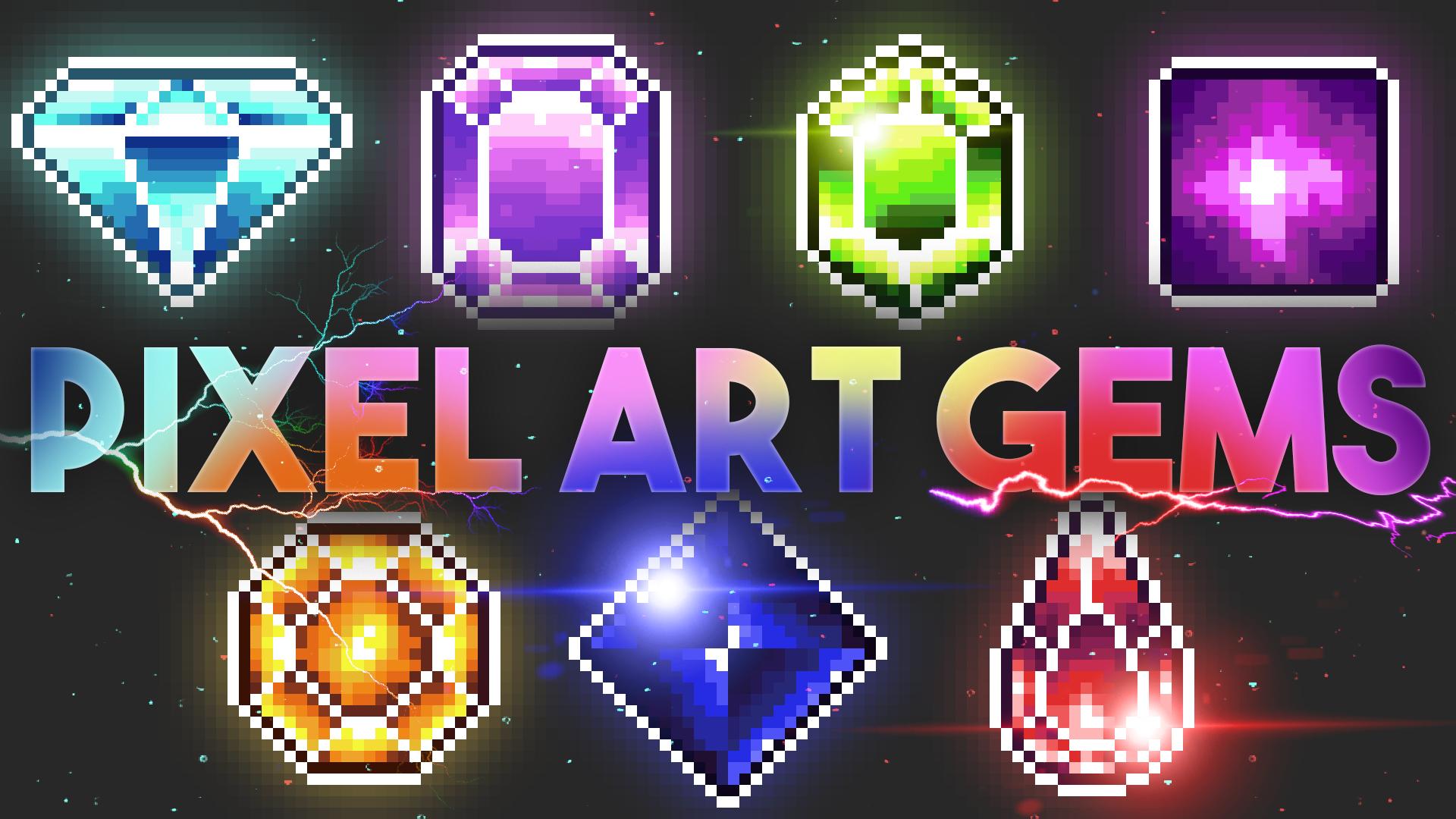 Pixel Art Gems/Crystals