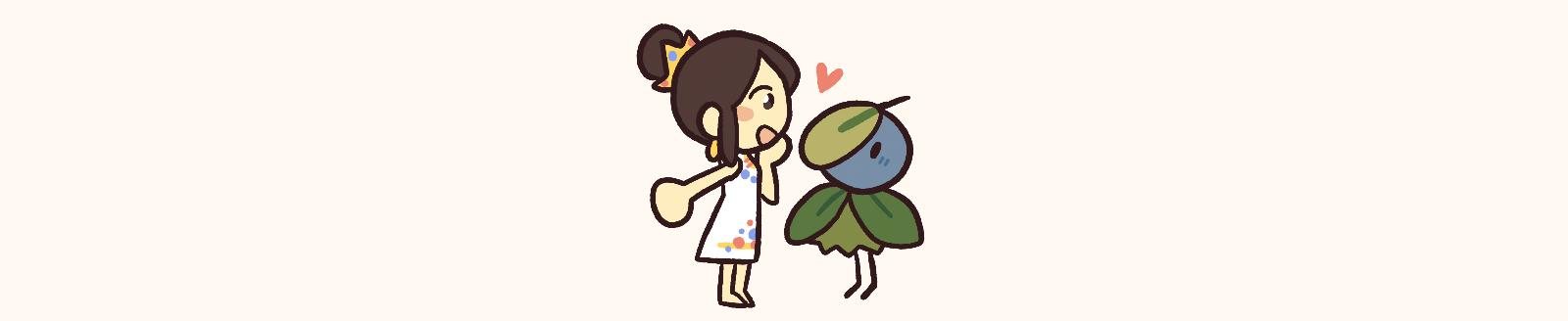 Bai Mudan admiring her Tea Minion
