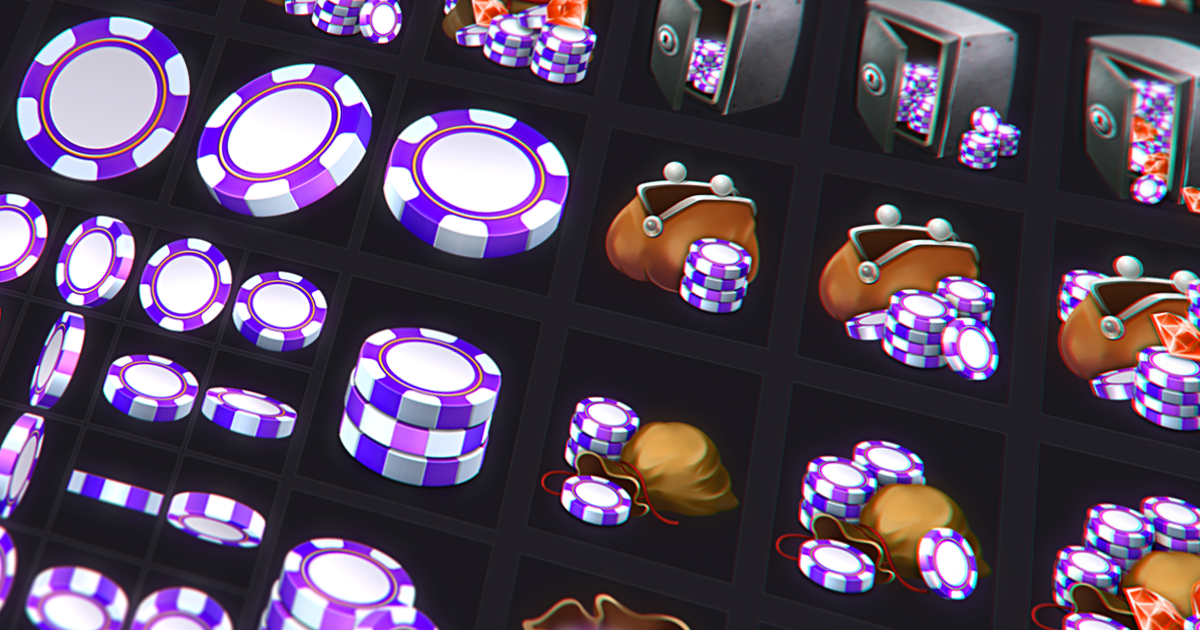 Free Poker Chip Icon Set