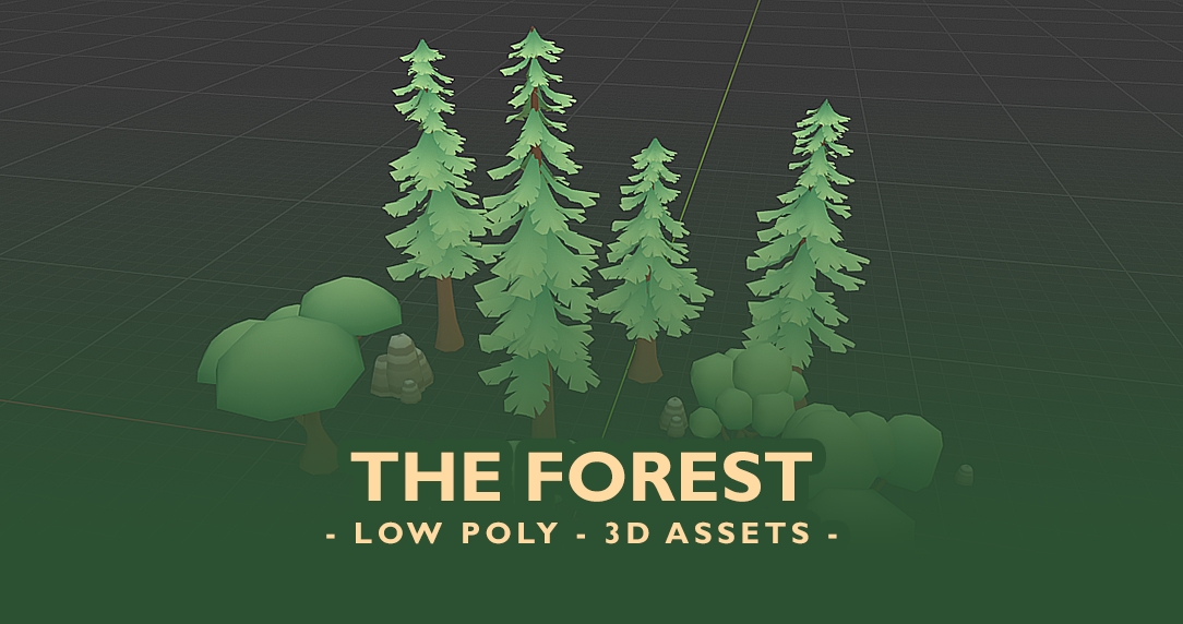 The Forest - Low Poly 3D assets -
