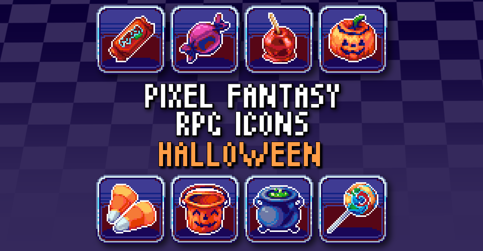 PIXEL FANTASY RPG ICONS - Halloween