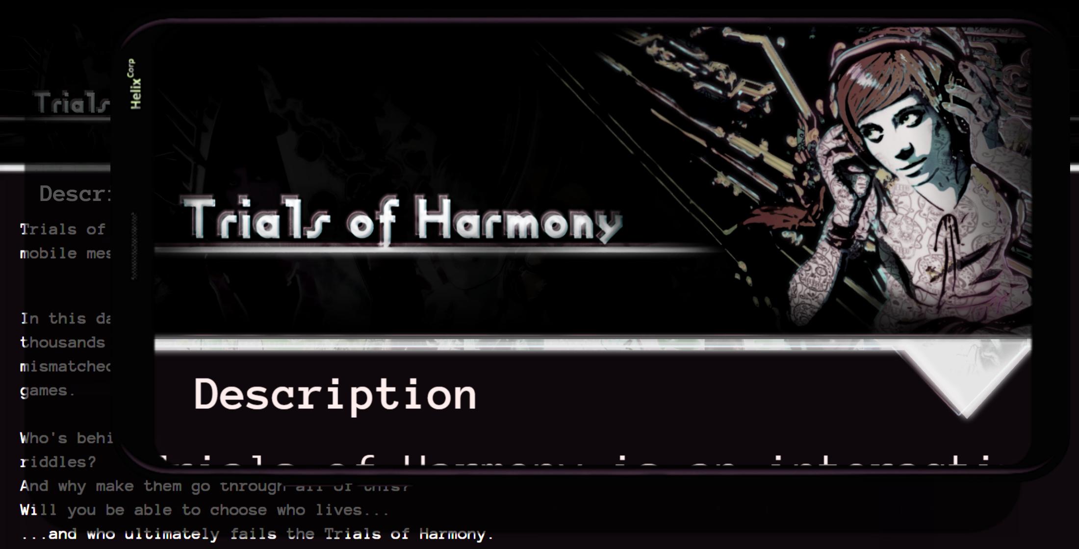 Trials of H̶a̸r̶mo̷n̷y ~ A Found Phone Visual Novel
