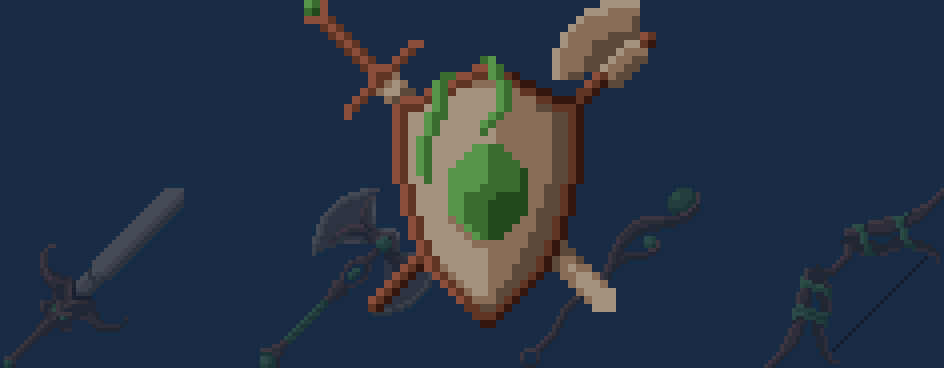 Forest Weapons And Armor (Pixel-Art)