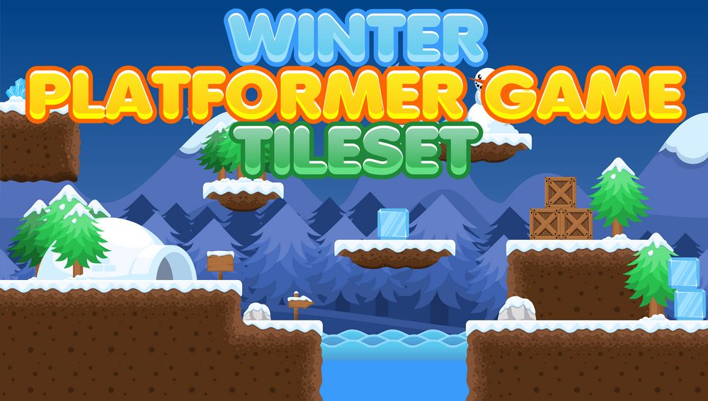 Free Winter Platformer Tileset