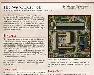 Mapvember Day 8: The Warehouse Job