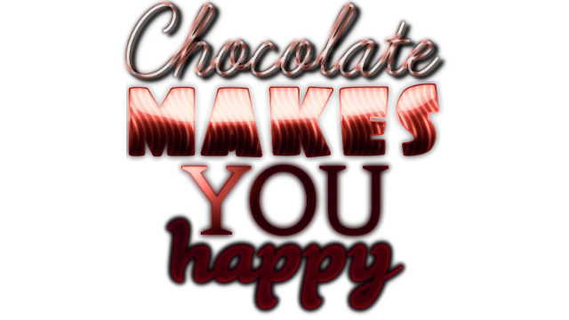 Chocolate makes you happy: New Year