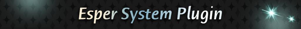 Esper System | Rpgmaker Plugin