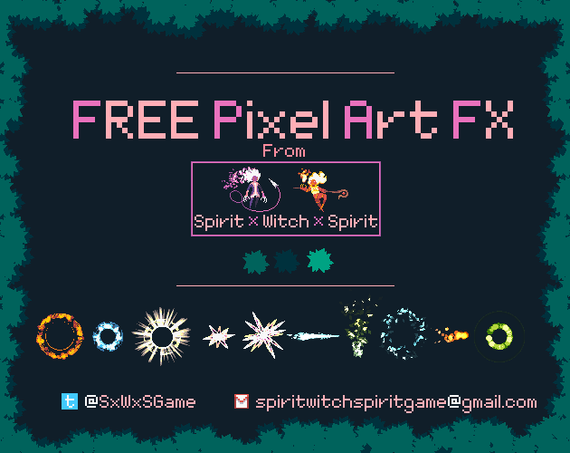 2D Pixel-art game spell/magic FX