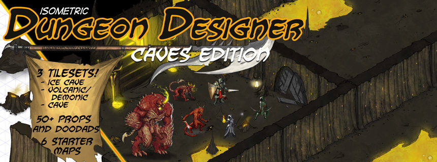 Isometric Dungeon Designer, Caves Edition