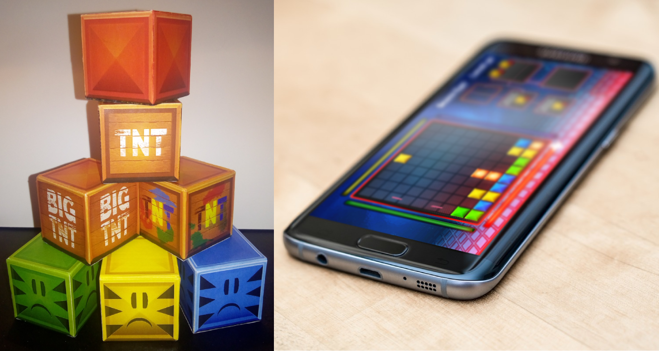 Wooden blocks and Android version