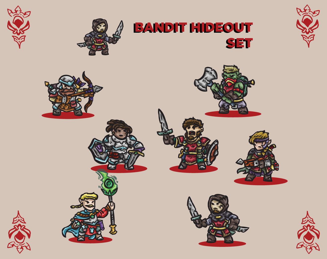 Bandit Hideout Paper Miniatures Set