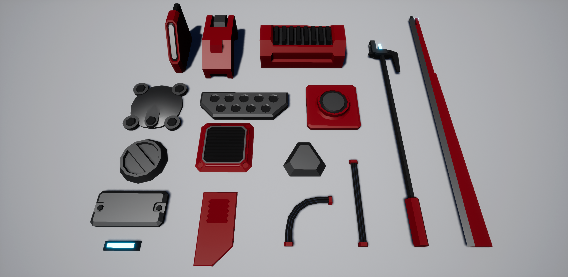Low-Poly Greeble Pack