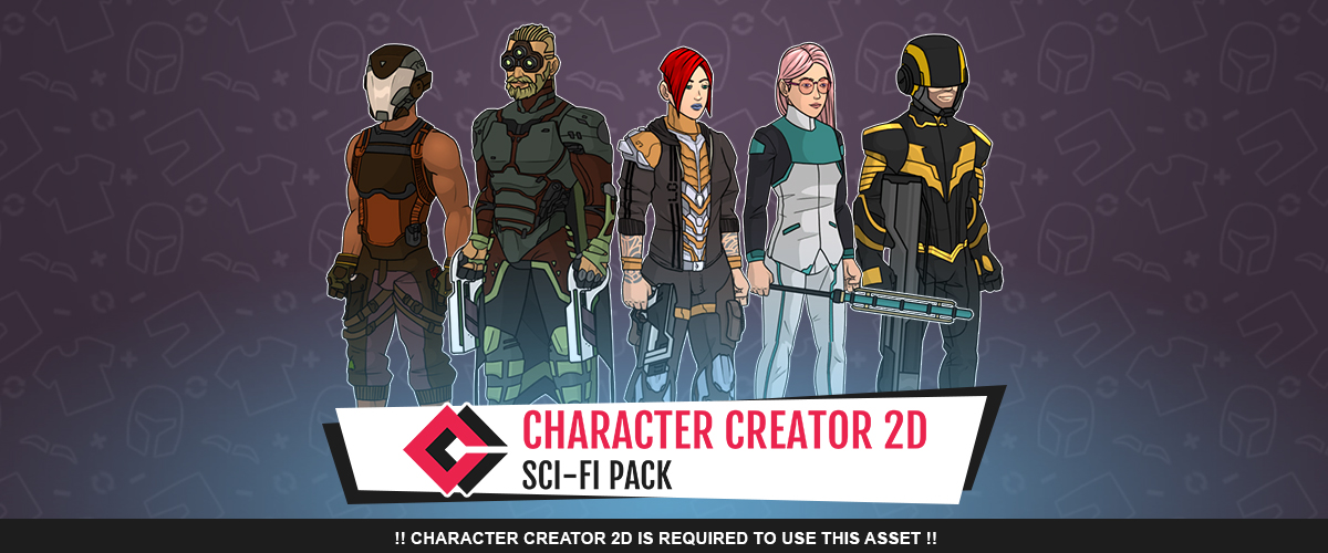 Sci-Fi Pack for Character Creator 2D