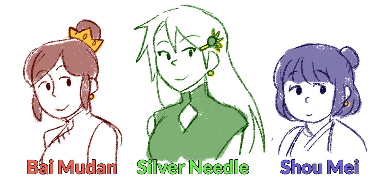 Bai Mudan, Silver Needle, Shou Mei