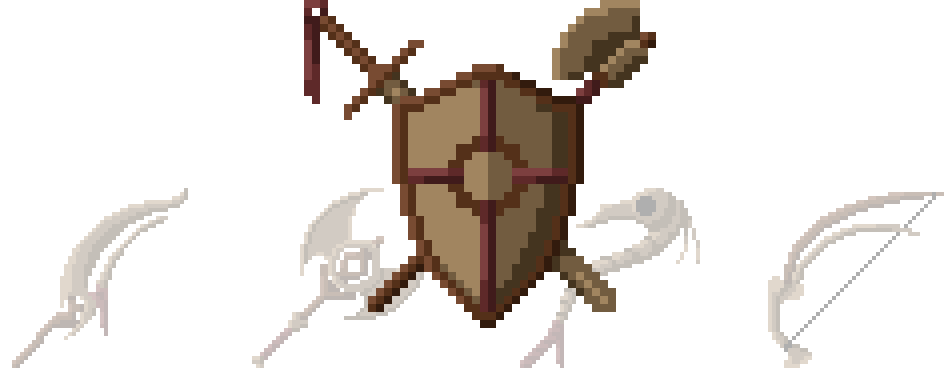 Necromancy Weapons And Armor (Pixel-Art)