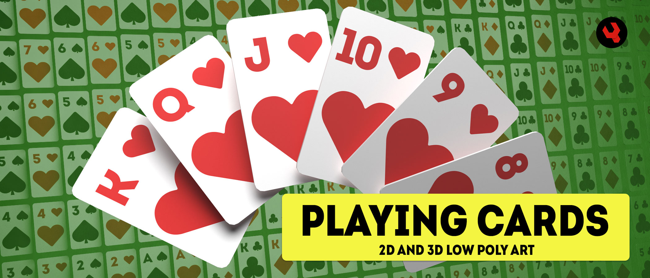 Playing Cards - 2D and 3D Low Poly Game Assets