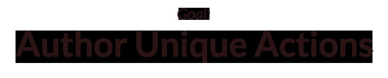Goal: Author Unique Actions