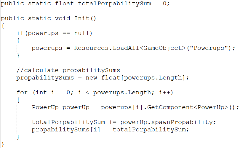 Init function of PowerUpController