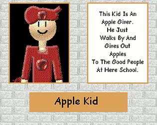 Apple Kid (Custom Baldi's Basics Character)