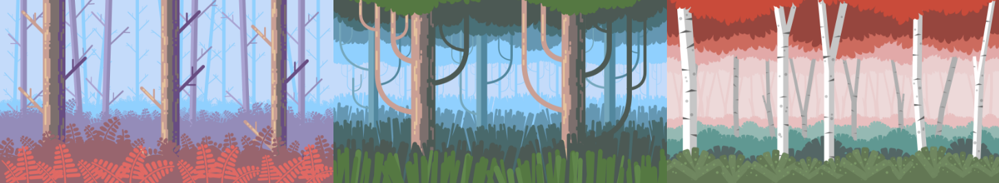 3 Forest Backgrounds Pack