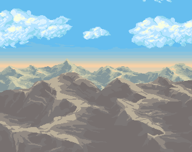 Background Desert Mountains