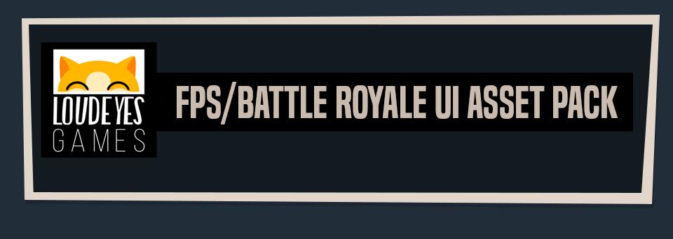 Battle Royale/ FPS Game UI Asset Pack