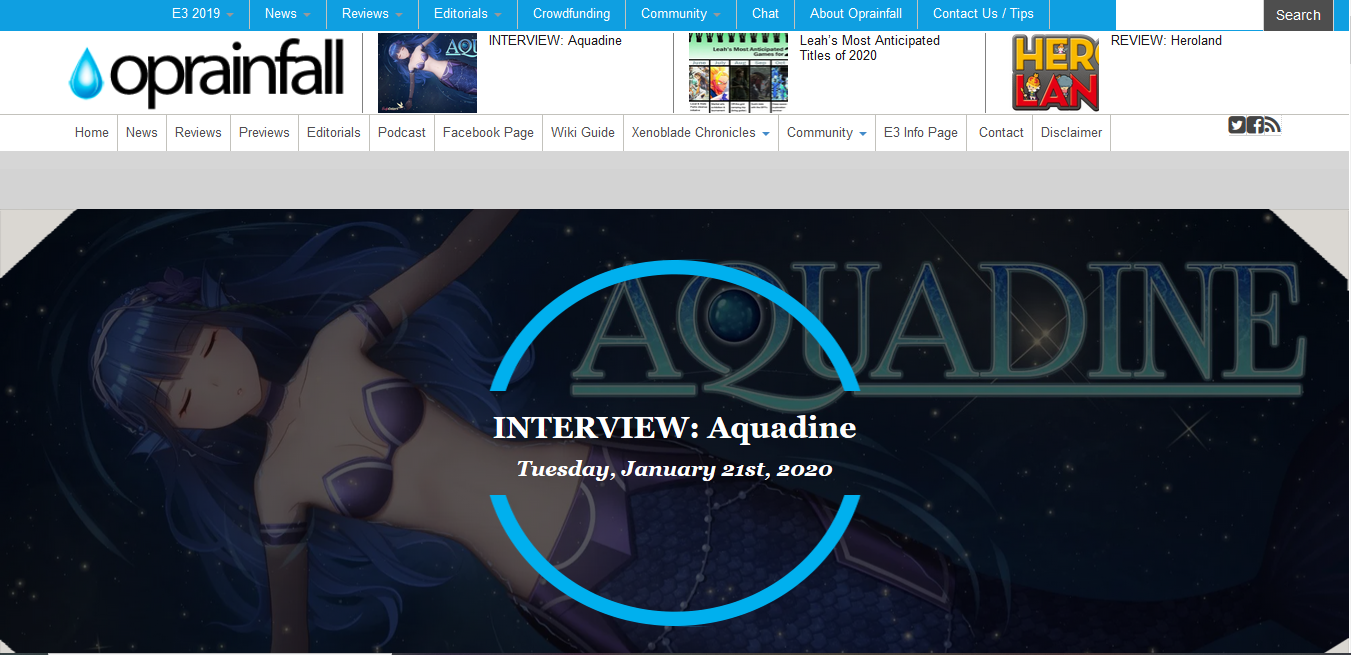 Aquadine Interview
