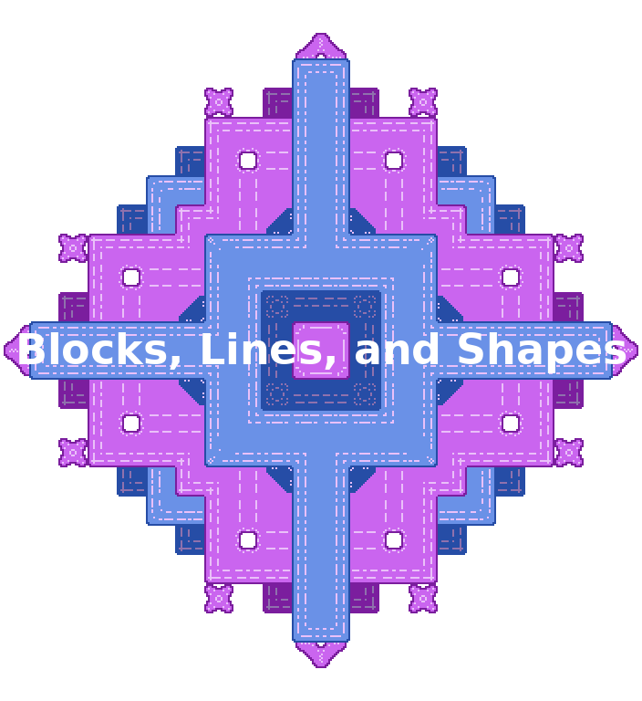 Blocks, Lines, and Shapes - 16x16 Tiles