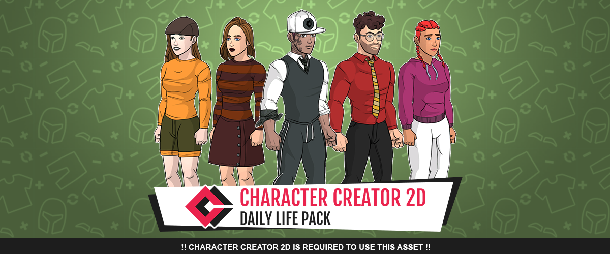 Daily Life Pack for Character Creator 2D