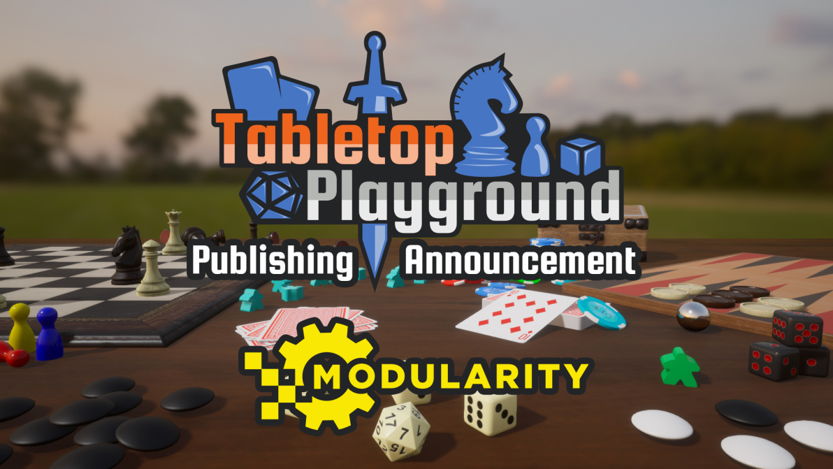 Tabletop Playground Publishing Announcement