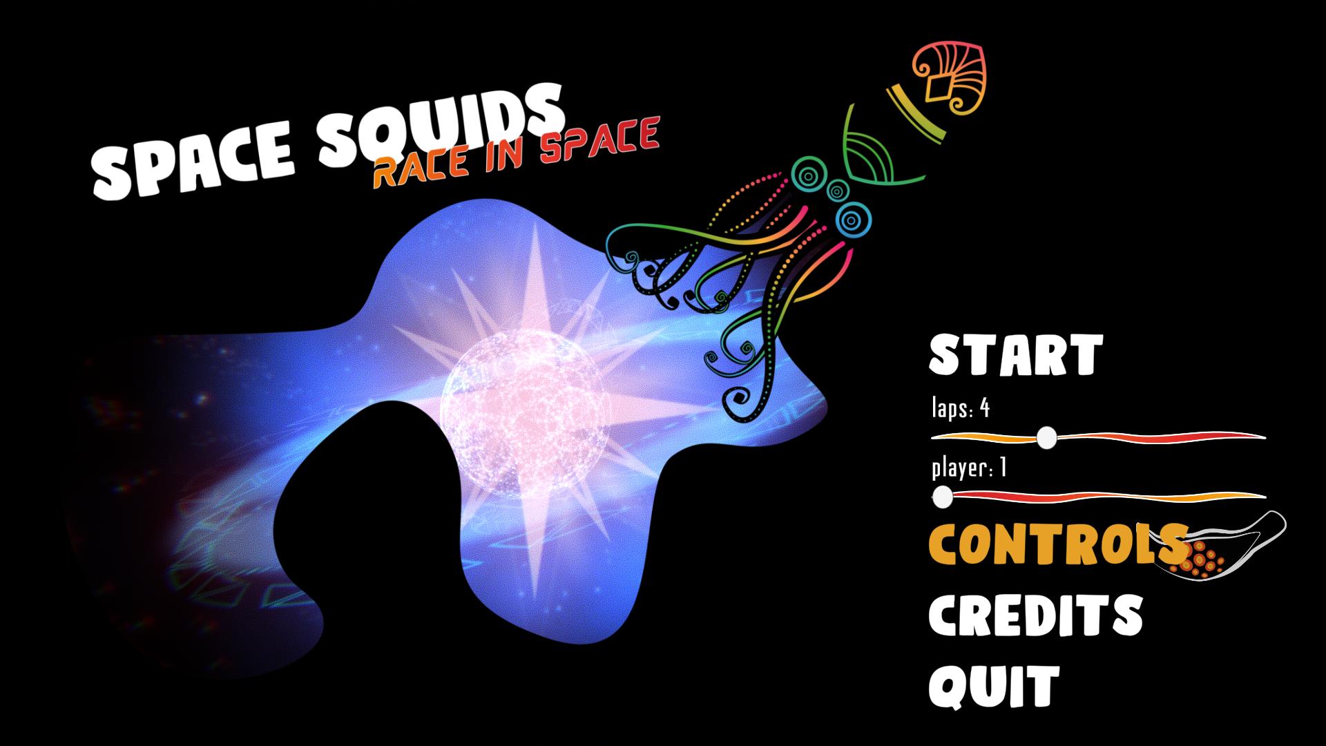 Space Squids: Race in Space, Main Menu
