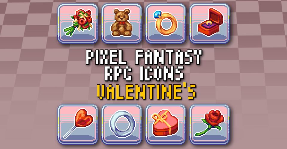 PIXEL FANTASY RPG ICONS - Valentine's