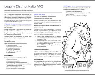 The Legally Distinct Kaiju RPG