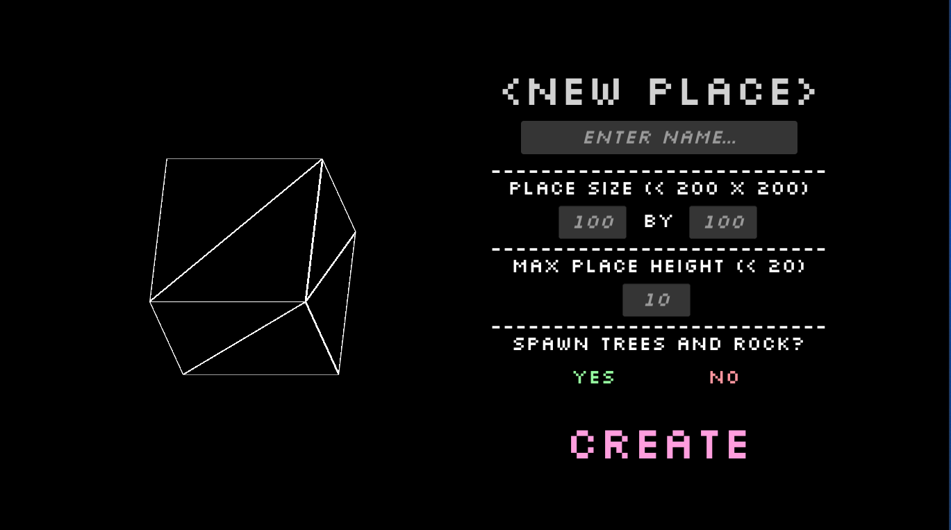 Place Creation Interface