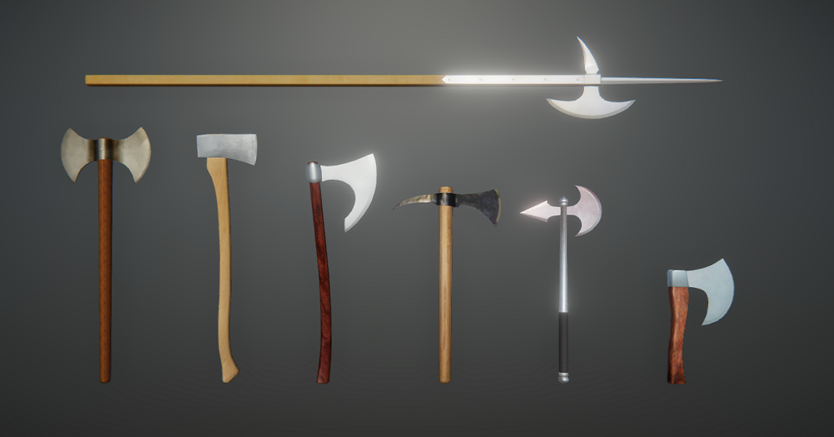 Battle Axes Pack for Unity 3D
