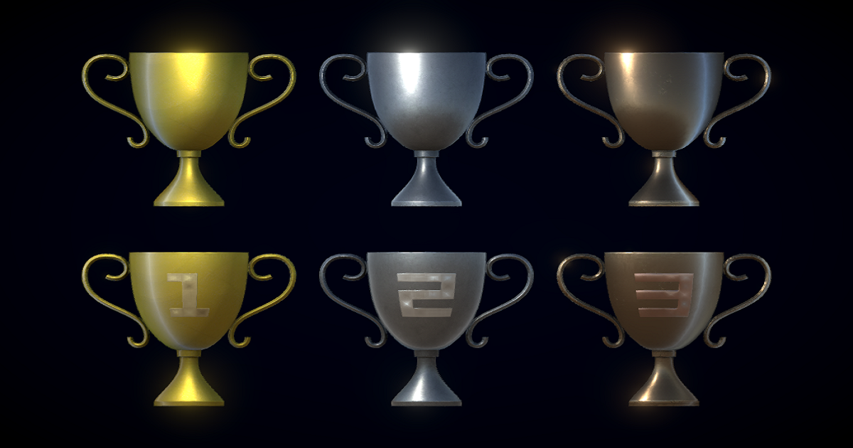 PBR Trophies Pack for Unity 3D