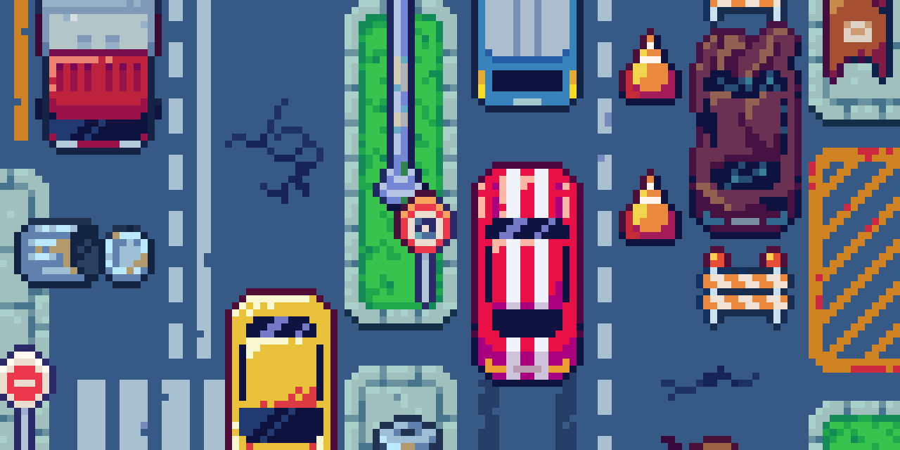 Racing Game Pixel Art Asset Pack