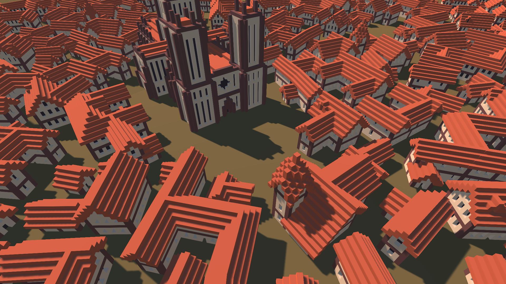 Medieval Voxel Buildings