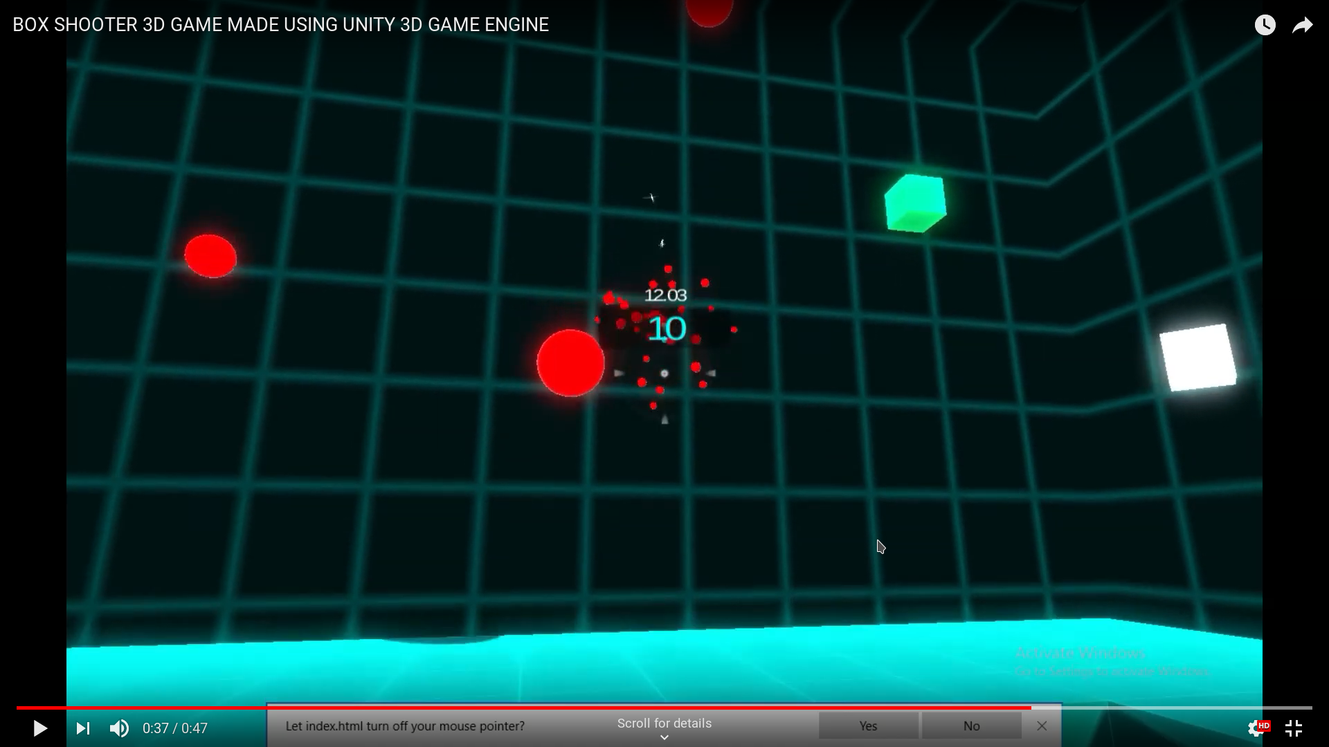 Box shooter in Unity 3D