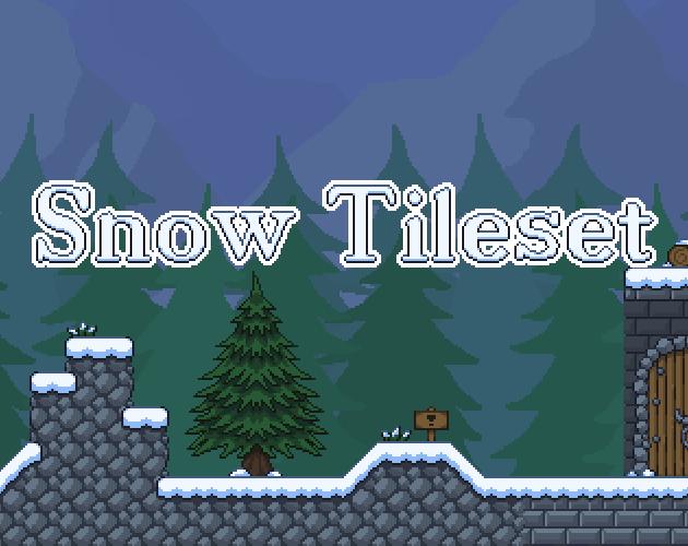 Snowy Forest Tileset - Platformer tiles